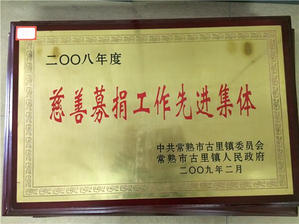 2008慈善募捐工作先进集体